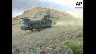 File of chinook helicopters operating in helmand province