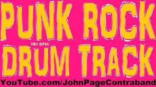 Punk Rock Drum Backing Track 150 bpm