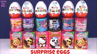 Chocolate Surprise Kinder Eggs Hello Kitty Shopkins Opening Choco Treasure Happos Shopkins Emoji Toy