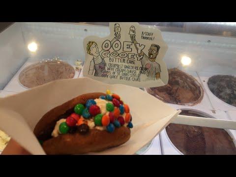 Ample Hills Creamery on Disney's Boardwalk: Cookie Sandwich, Ooey Gooey Butter Cake Ice Cream