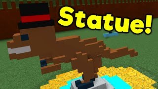 House Build Ep.5: Dino Statue!! - ROBLOX Build a Boat