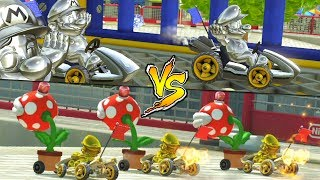 TEAM MARIO DORADO vs TEAM METAL MARIO EN BATALLAS DE MARIO KART 8 DELUXE | Nintendo Switch