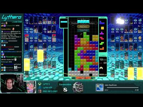 Tetris 99 Win with Quadruple T-spin Triple Tower