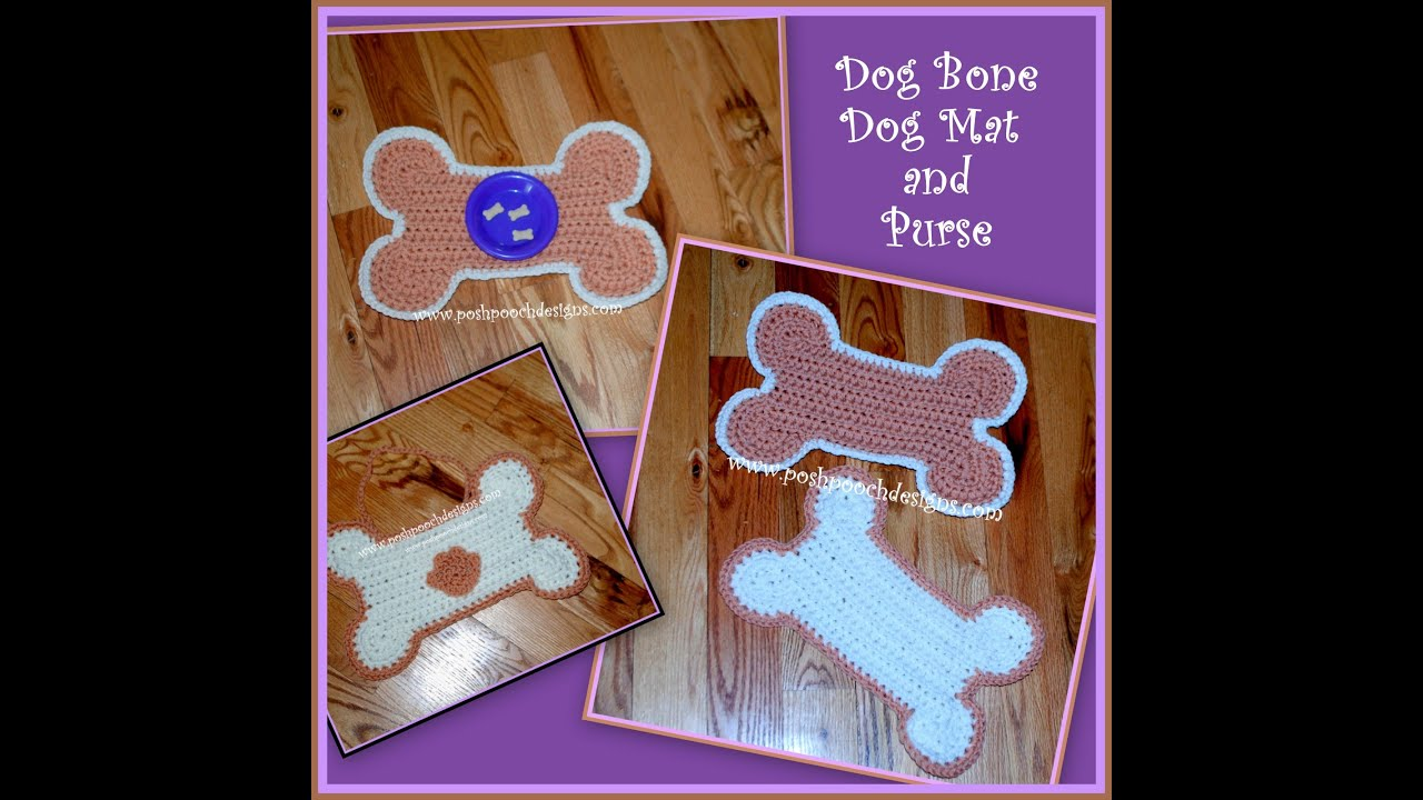 Dog Bone Pet Rug: Crochet A Dog Bone Mat And Purse