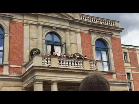 TRISTAN UND ISOLDE Fanfare, Bayreuth Festspielhaus, August 22, 2016