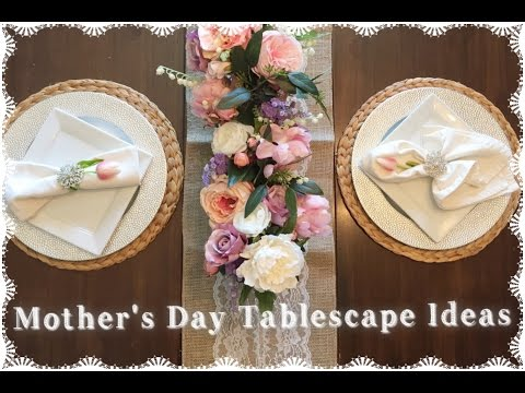 Mother's Day Tablescape Ideas| Farmhouse Cozy Elegance 2017