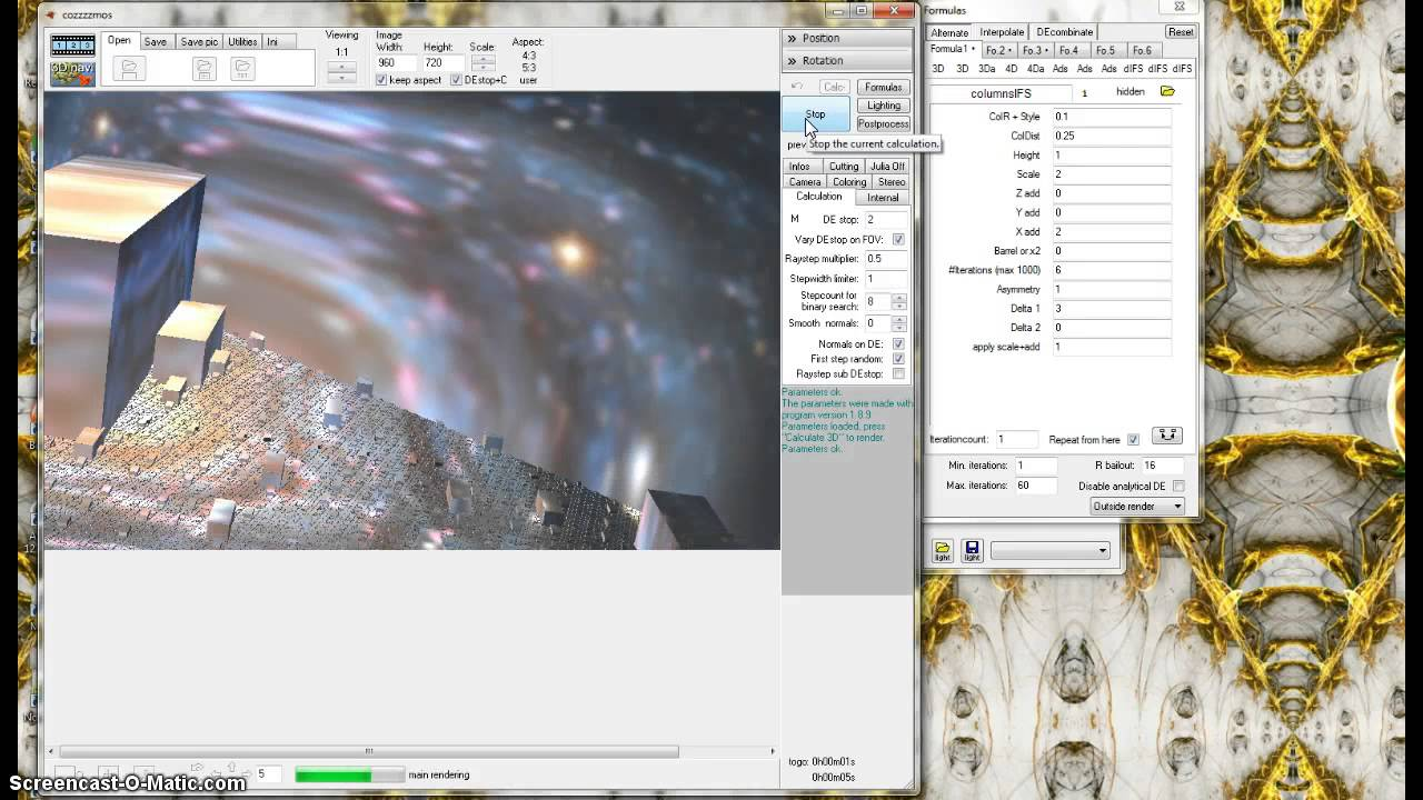How to import parameters in Mandelbulb 3D