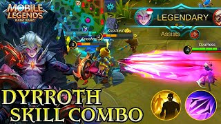Dyrroth Skill Combo Gameplay - Mobile Legends Bang Bang