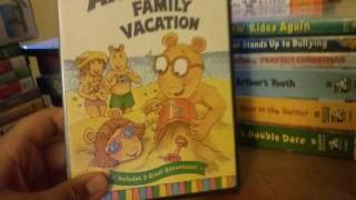 My Arthur / pbs kids / dr suess and diary of a wimpy kid book vhs and DVD collection