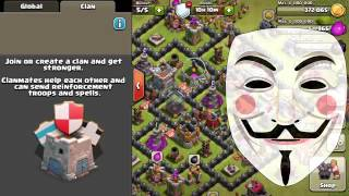 Clash Of Clans... ANONYMOUS HACKER TROLLING PRANK ON Clash Of Clans 2016