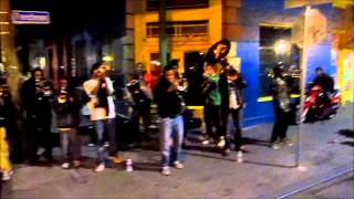 Young Fellaz Brass Band perform LIVE at Chartres & Frenchmen, 2-10-2015