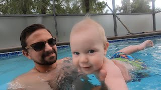 Bathroom DIY Is Almost Done & Pool Fun With The Baby! | Home Vlog