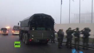 Graban a los guardaespaldas de Kim antes del encuentro con Putin en el Lejano Oriente ruso