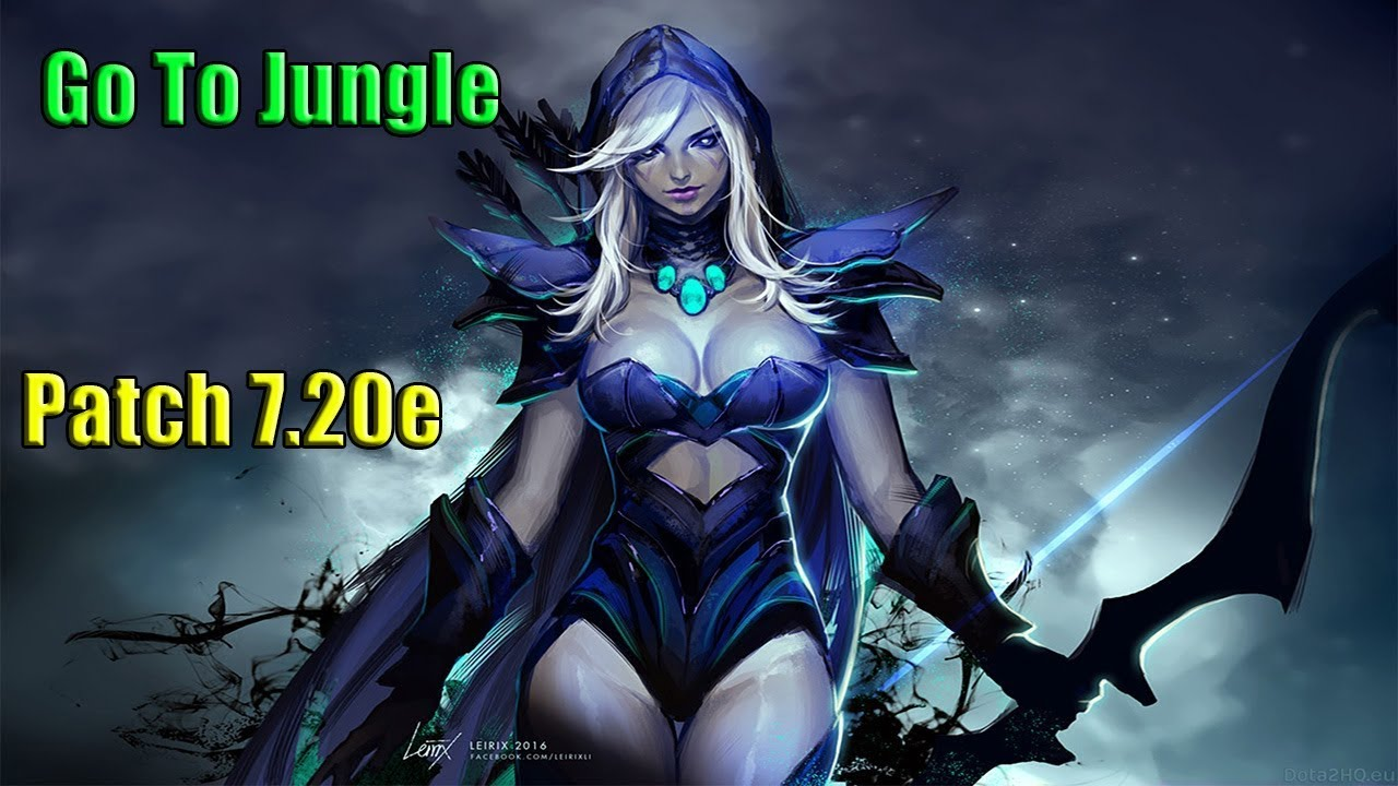 Dota 2 Go To Jungle Drow Ranger Patch 7 20e Youtube