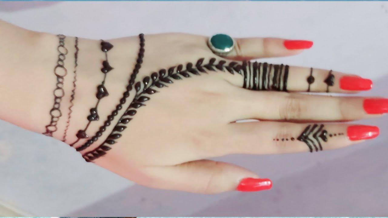 beautiful bracelet mehndi design