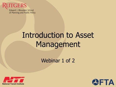Introduction to Transit Asset Management