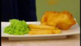 Fish and chips - English Recipes - Market Kitchen(, 2008-08-22T14:48:27.000Z)