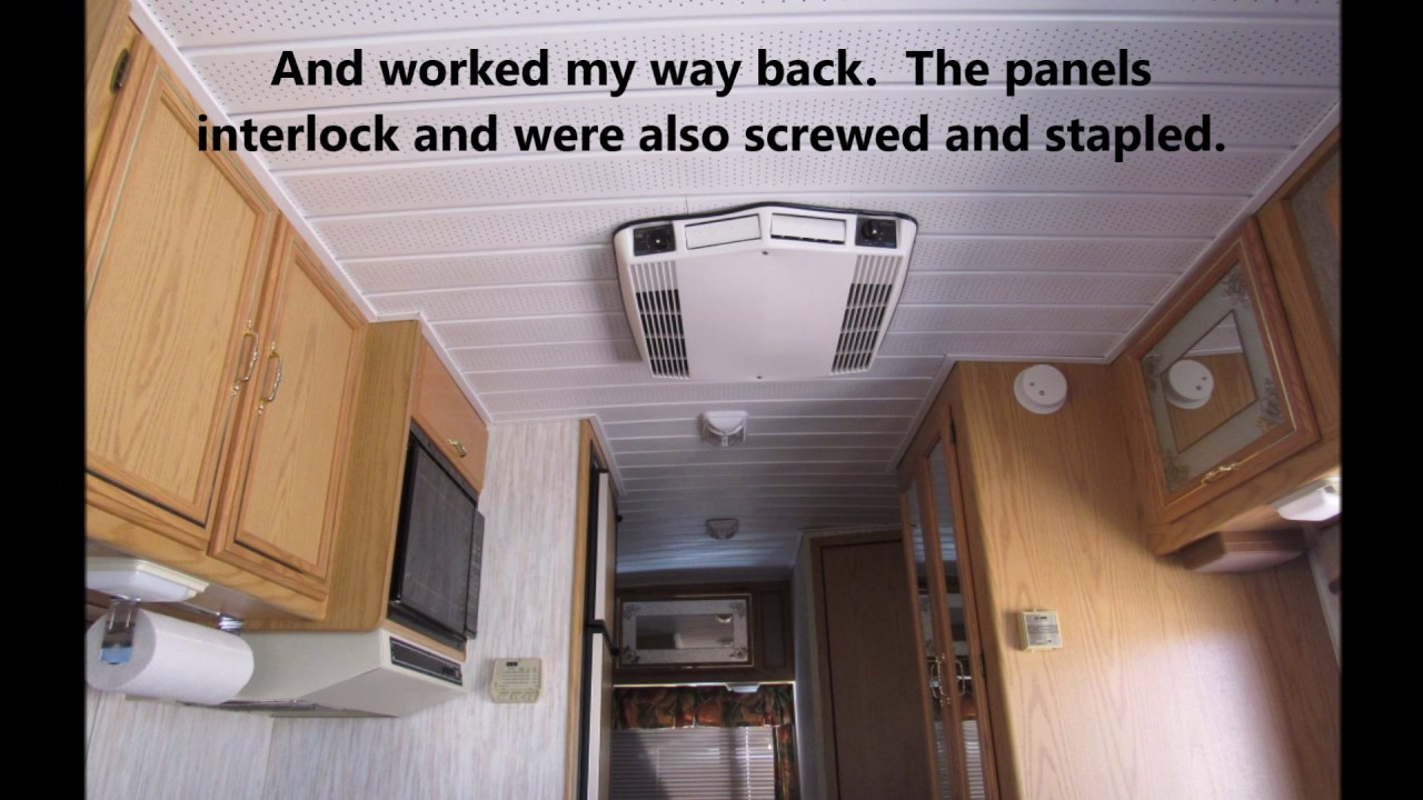 fix the sagging ceiling in your older rv - youtube