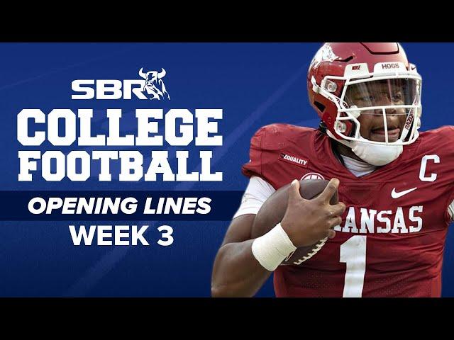 College Football Opening Lines Week 3 🏈
