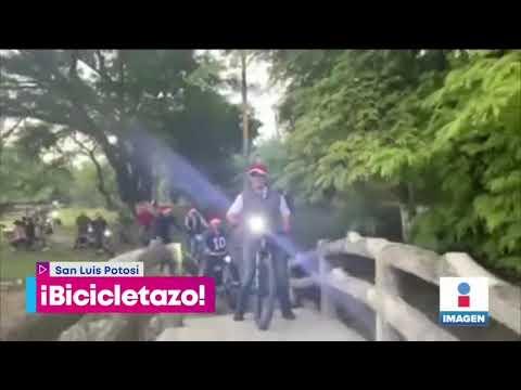 Se cae alcalde de la bicicleta en SLP   Noticias con Yuriria Sierra
