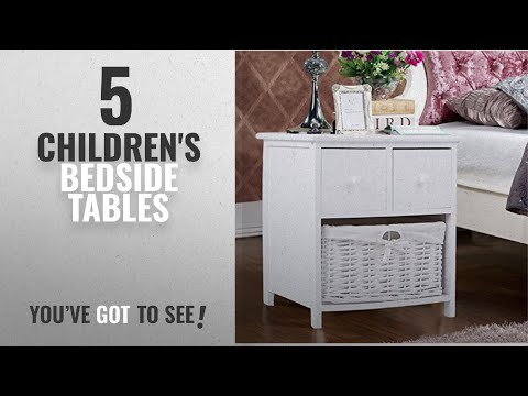 Top 10 Children'S Bedside Tables [2018]: Panana 1pc White Wooden Shabby Chic Storage Bedside Units