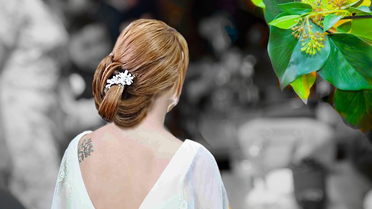 Cute Bridesmaid Hairstyle For Medium Long Hair
