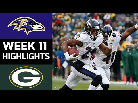 Ravens vs. Packers | NFL Week 11 Game Highlights