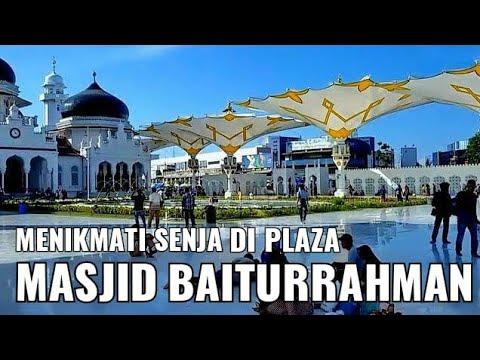 Begini Suasana Senja di Plaza Baiturrahman - Aceh