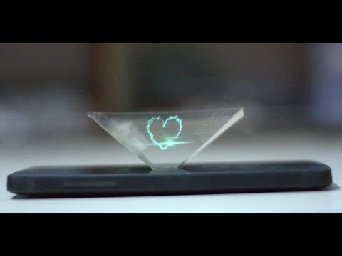 DIY 3D Hologram Pyramid || Smartphone Holographic Display