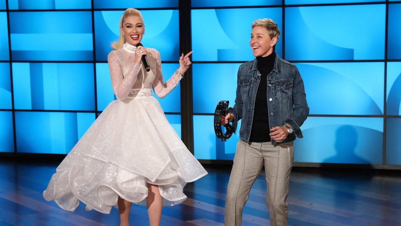 The Premiere of Ellen and Gwen Stefani\'s HIT Holiday Songs! - YouTube