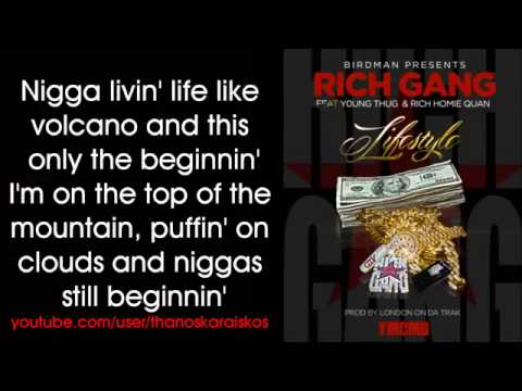 Rich Gang   Lifestyle ft  Young Thug, Rich Homie Quan Lyrics/ free download [HOT 2014]