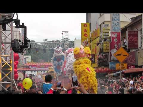 Chinese New Year parade in Kuala Lumpur, Malaysia