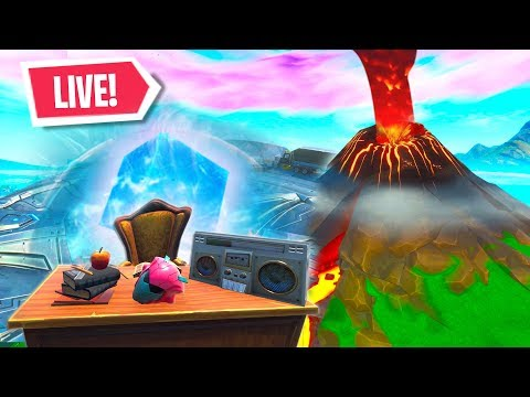 *NEW* FORTNITE LOOT LAKE VOLCANO EVENT RIGHT NOW! FREE REWARDS VAULT EVENT (FORTNITE BATTLE ROYALE)