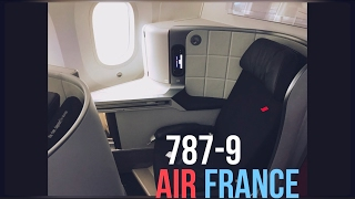 air france 787 9 dreamliner business class to paris cdg