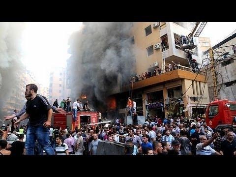 Huge deadly car bomb in Beirut, Lebanon