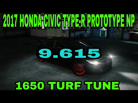 2017 honda civic type r prototype np 1650 turf tune