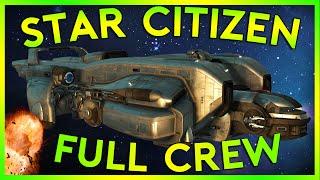 Star Citizen Alpha 2.4.1 | FULL CREW STARFARER FAIL | Part 155 (Star Citizen 2016 PC Gameplay)