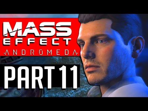 MASS EFFECT ANDROMEDA Walkthrough Part 11 Mission MERIDIAN THE WAY HOME Scourge Clusters probed Data