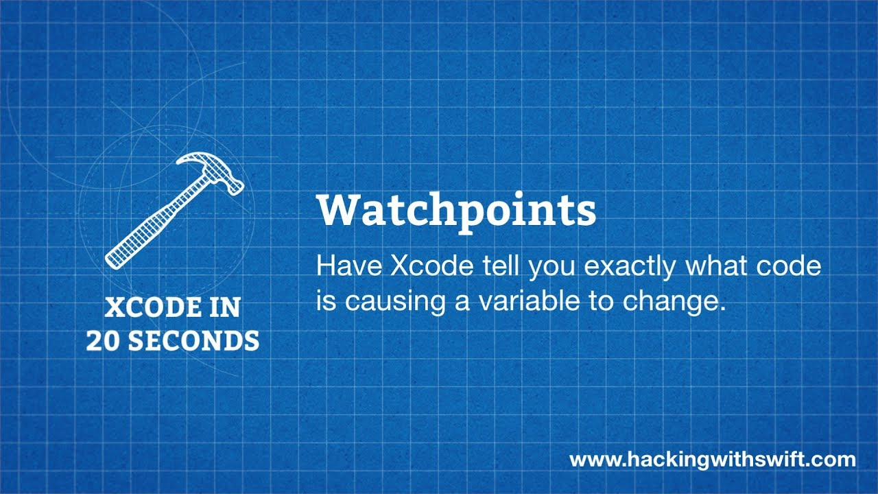 Xcode in 20 Seconds: Watchpoints