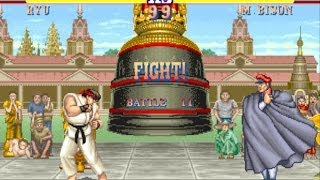 Street Fighter II: The World Warrior arcade Ryu Gameplay Playthrough Longplay