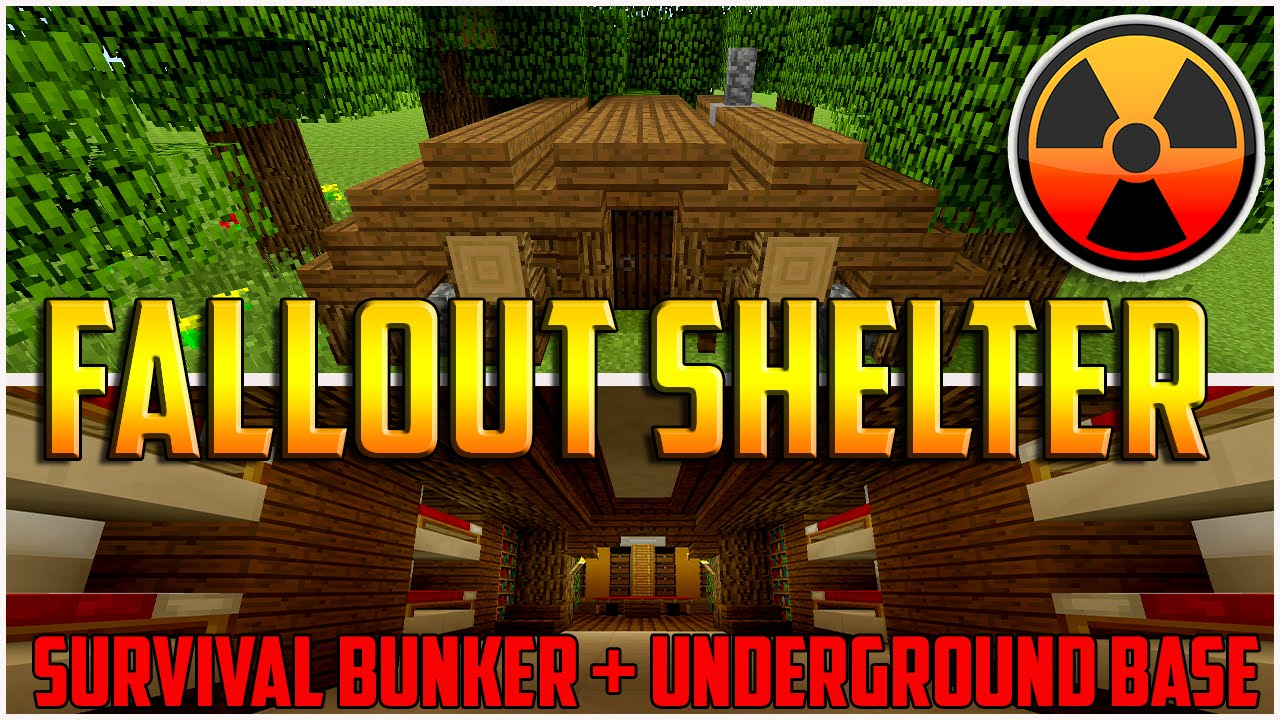 Minecraft How To Build A Underground Base Fallout Shelter Survival Bunker Make You