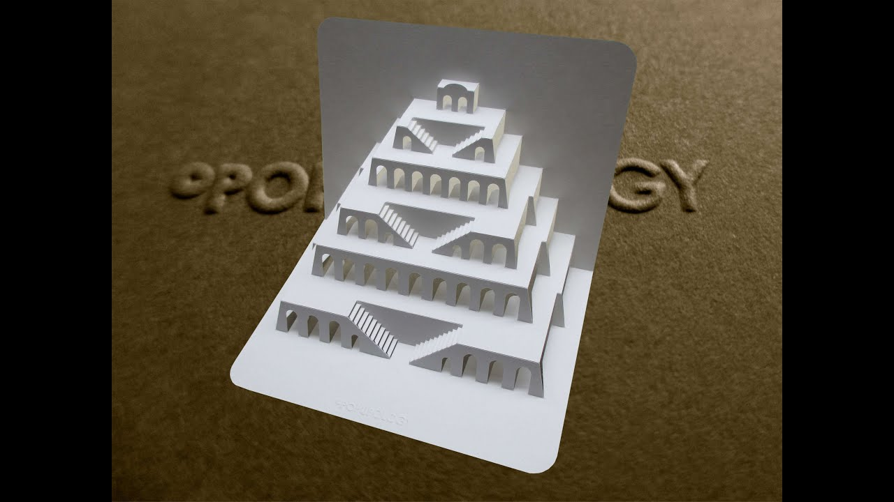 Pop Up Tower Of Babel Card Tutorial Origamic