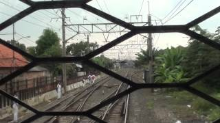 KRL JABOTABEK 元JR東日本203系 Bogor線前面展望(Manggarai→Depok)