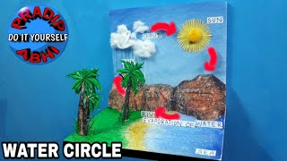 Water Cycle School Project | How to Make 3D Water Cycle | Water Cycle Science Project