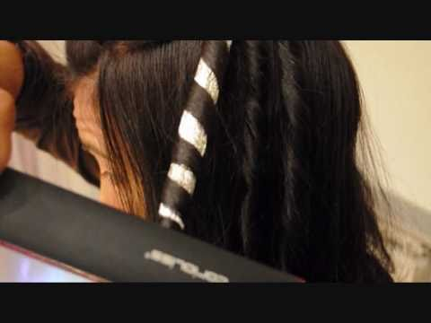 Peinado tirabuzones con las planchas y forma acordeon - Papel de transferencia para plancha ...