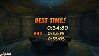 Crash N. Sane Trilogy: Crash 2 - Turtle Woods (0:34:80) [WR]