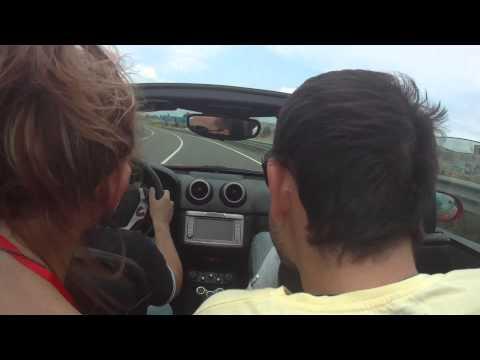 Driving a Ferrari California F1