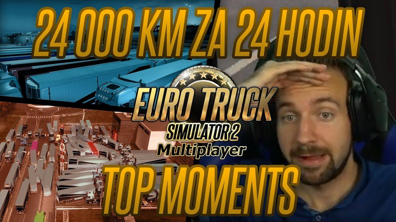 Euro Truck Simulator 2 Multiplayer: Nejlepší momentky z 24 hodinového streamu!