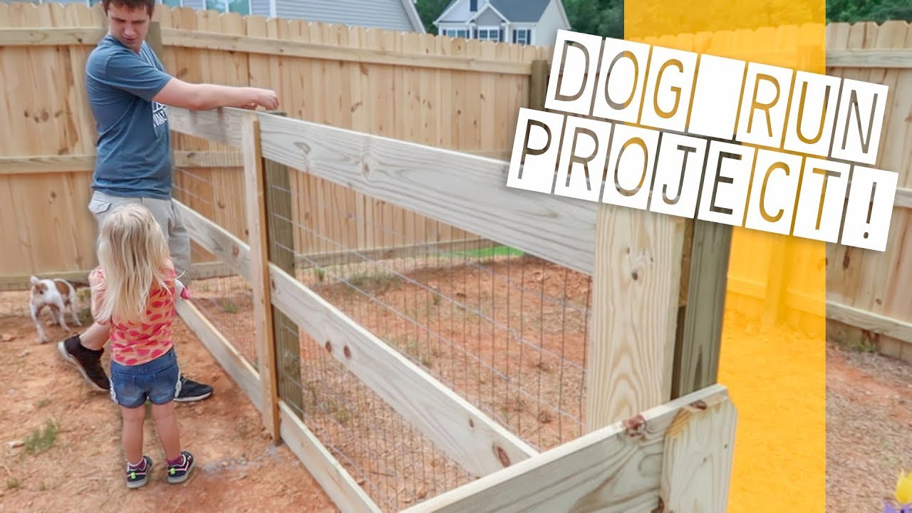 The Backyard Dog Run Project! - BACKYARD FENCE RENOVATION! The Backyard Dog Run Project! - YouTube