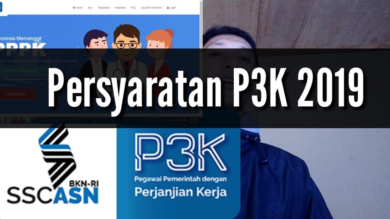 PERSYARATAN UMUM P3K / PPPK 2019 untuk Tenaga Honorer K2 ...